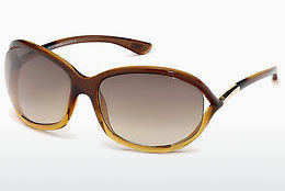 太陽眼鏡 Tom Ford Jennifer (FT0008 50F) - 啡色, Dark