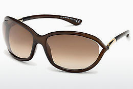 太陽眼鏡 Tom Ford Jennifer (FT0008 692) - 啡色, Dark, Shiny