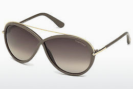太陽眼鏡 Tom Ford Tamara (FT0454 59K) - 動物角質, Beige, Brown