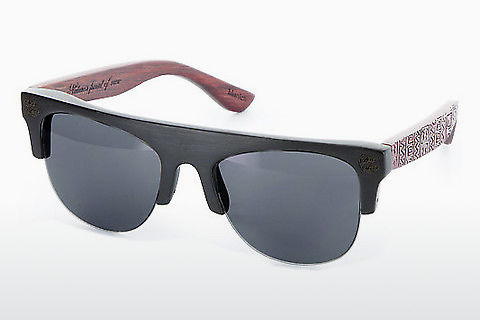 太阳镜 Wood Fellas Padang (10380 black/red)